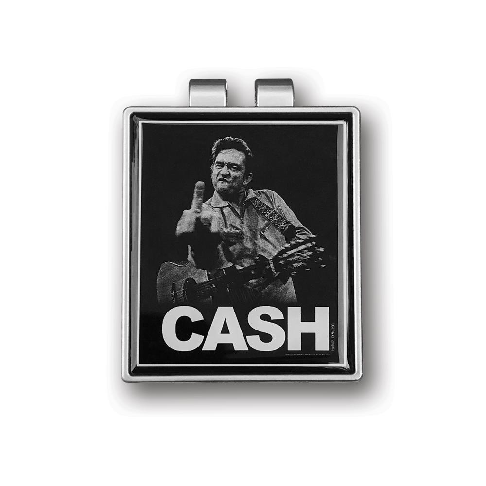 Johnny Cash- 'The Bird' Money Clip- by waxoffdesign
