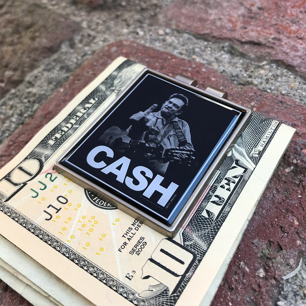 Johnny Cash- 'The Bird' Money Clip- by waxoffdesign