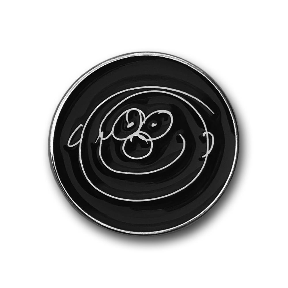 Paul McCartney- Smiley Face Enamel Pin- by waxoffdesign
