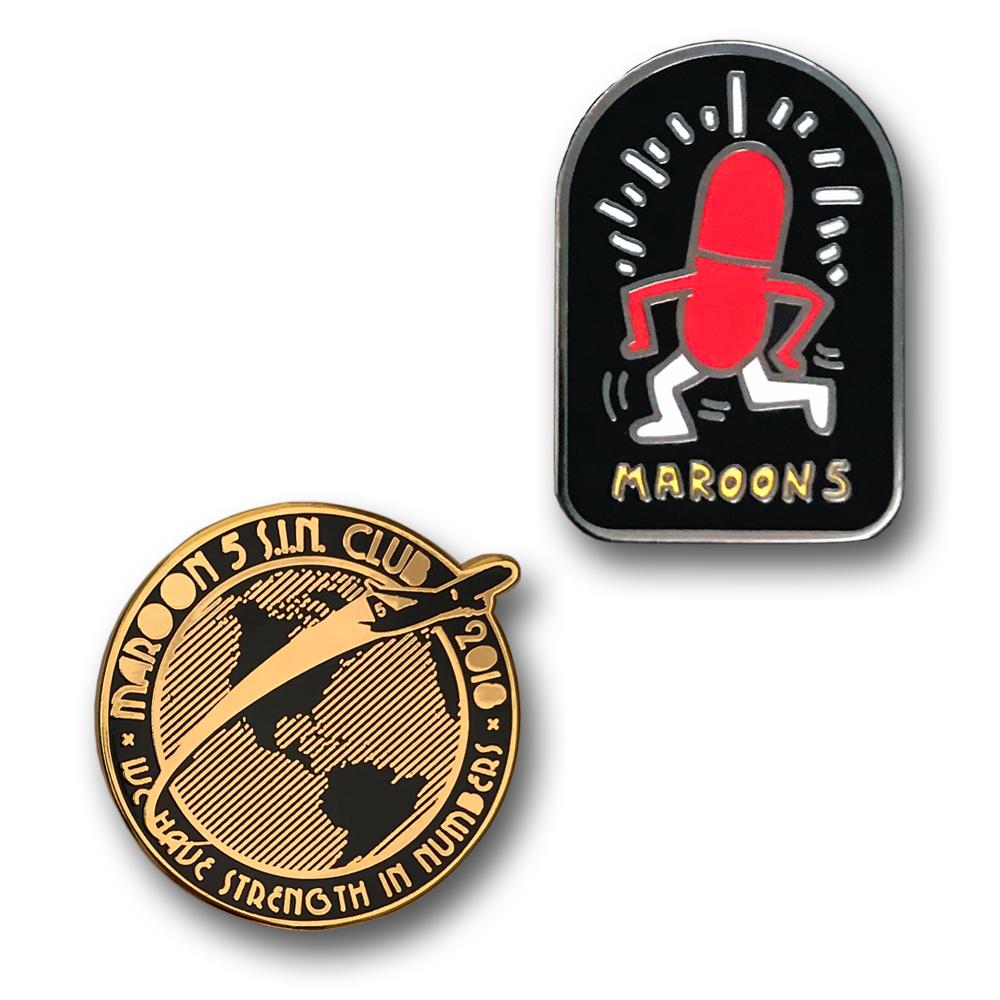 Maroon 5- S.I.N. Club- Pin Set-by waxoffdesign