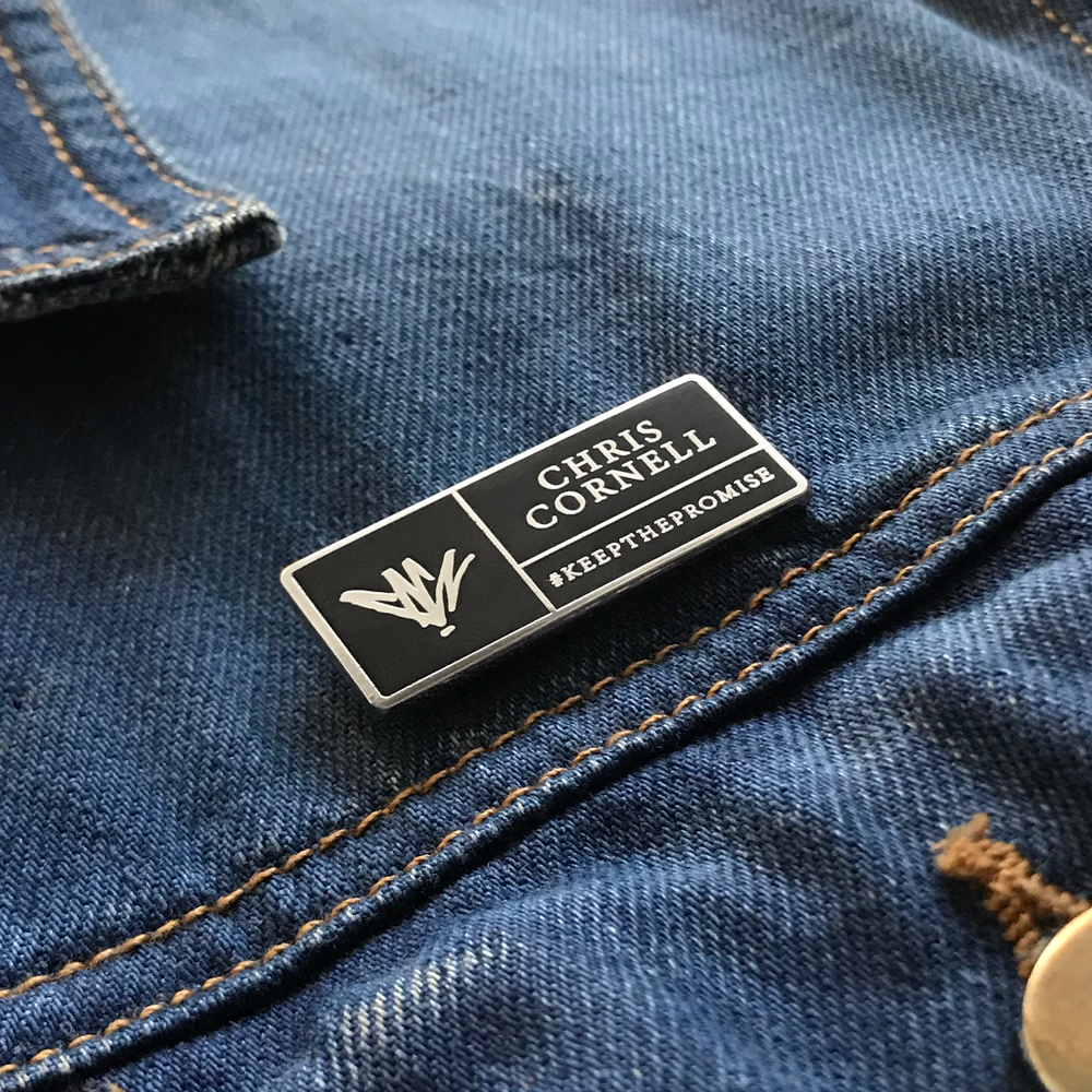 Chris Cornell- Logo and Text Pin- by waxoffdesign