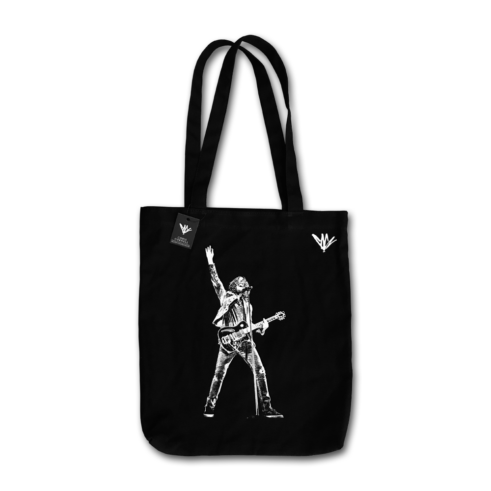 Chris Cornell- Stage Photo Canvas Tote Bag- by waxoffdesign