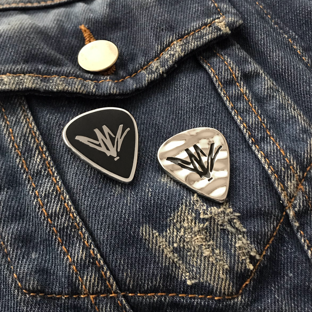 Chris Cornell- Guitar Pick Pin Set- by waxoffdesign