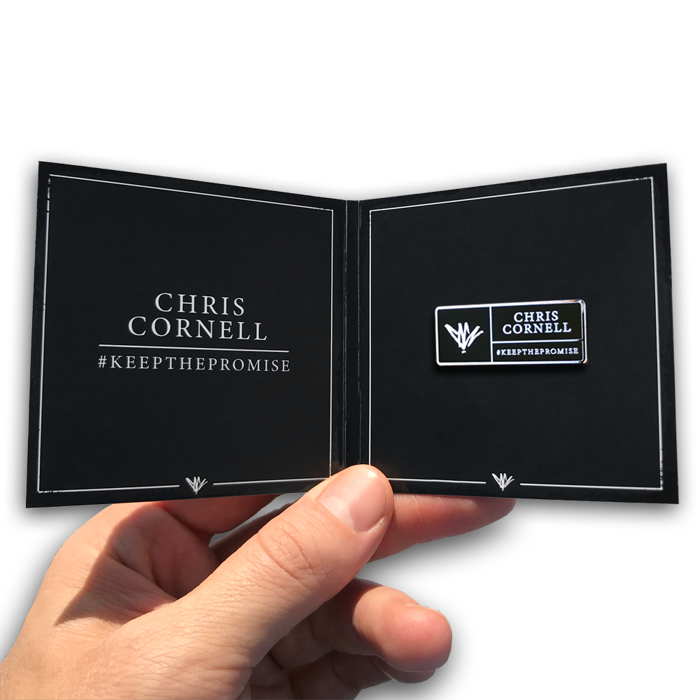 Chris Cornell- Signature Pin- by waxoffdesign