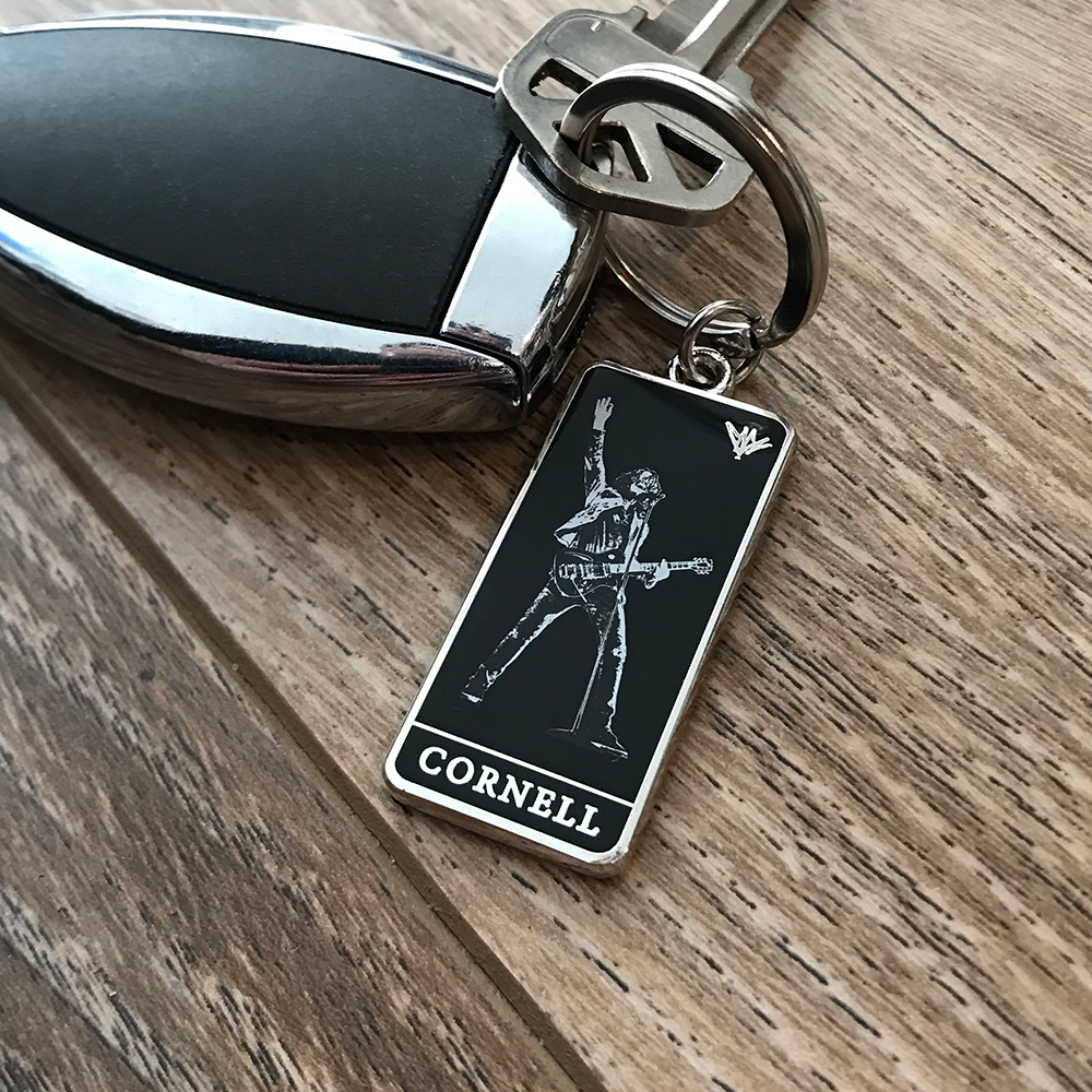 Chris Cornell- Stage Photo Keychain- by waxoffdesign