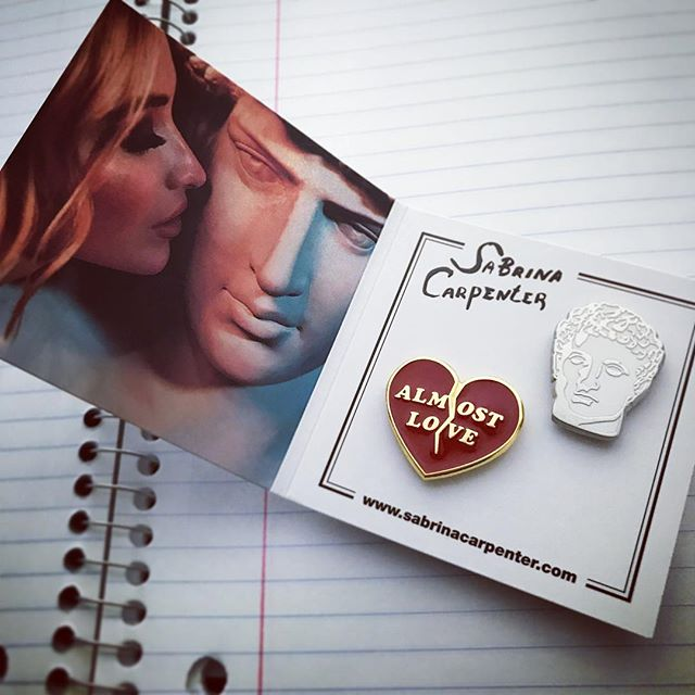 @sabrinacarpenter exclusive fan club pin set with custom booklet packaging.