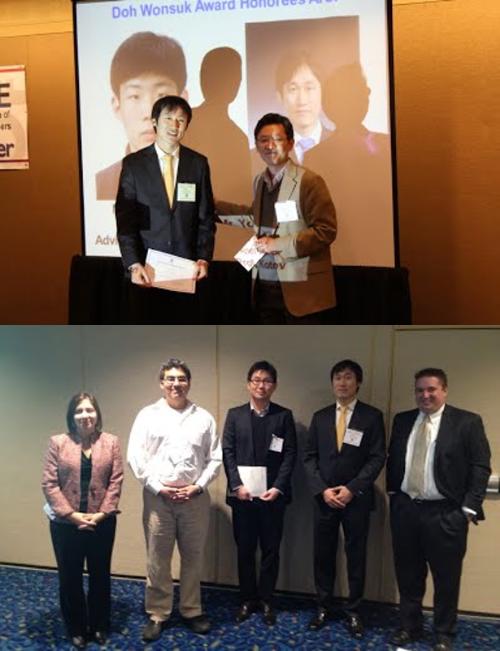 AIChE Awards - - Doh Wonsuk memorial award, KIChE-US chapter- Graduate Student Award, 2nd prizeAtlanta, GA, November 2014