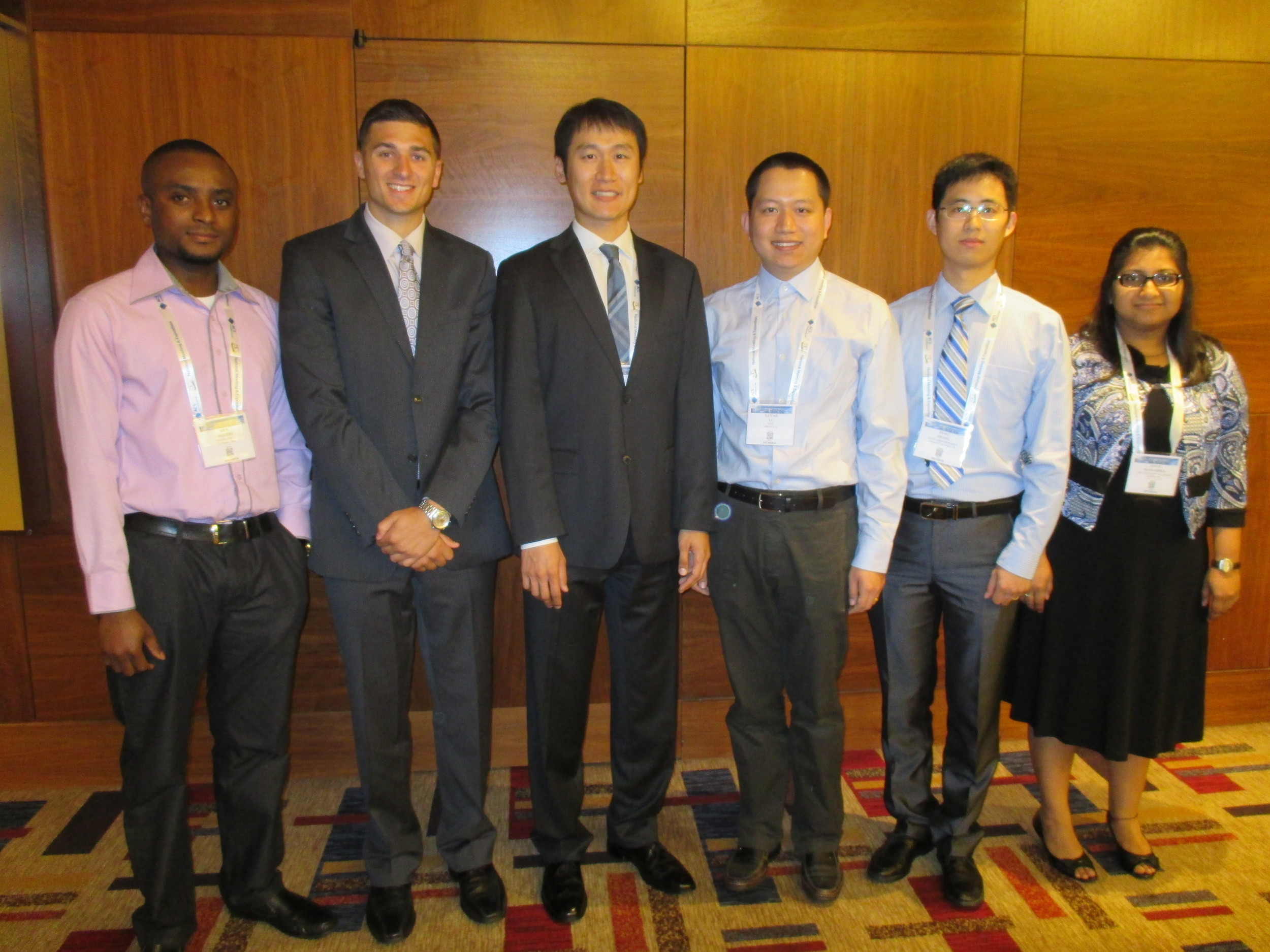 ACS Award - Eastman Chemical Student Award, Finalist (Top 6), PMSEBoston, MA, August 2015
