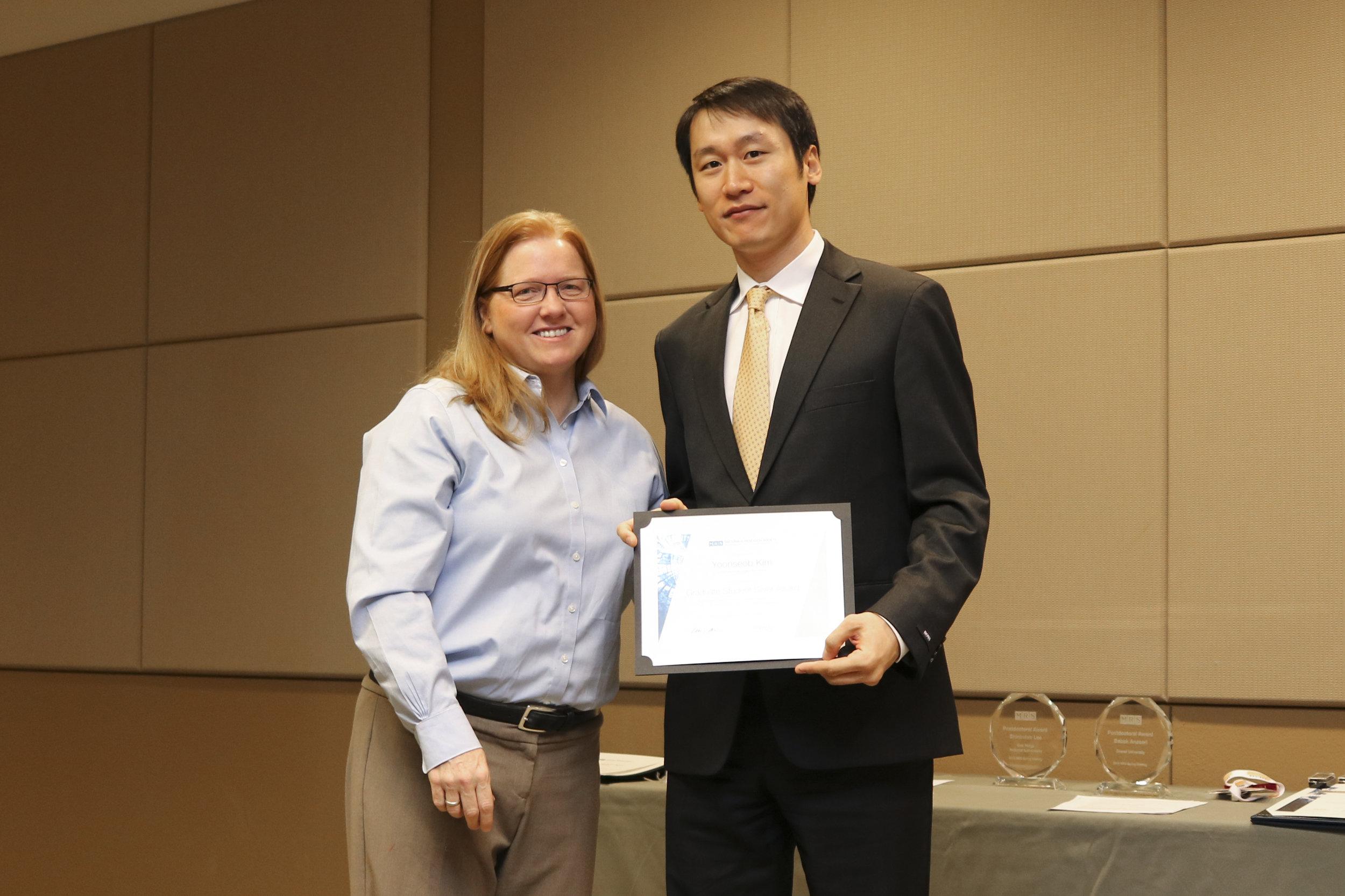 MRS Award - Graduate Student Award, Silver MedalPhoenix, AZ, March 2016
