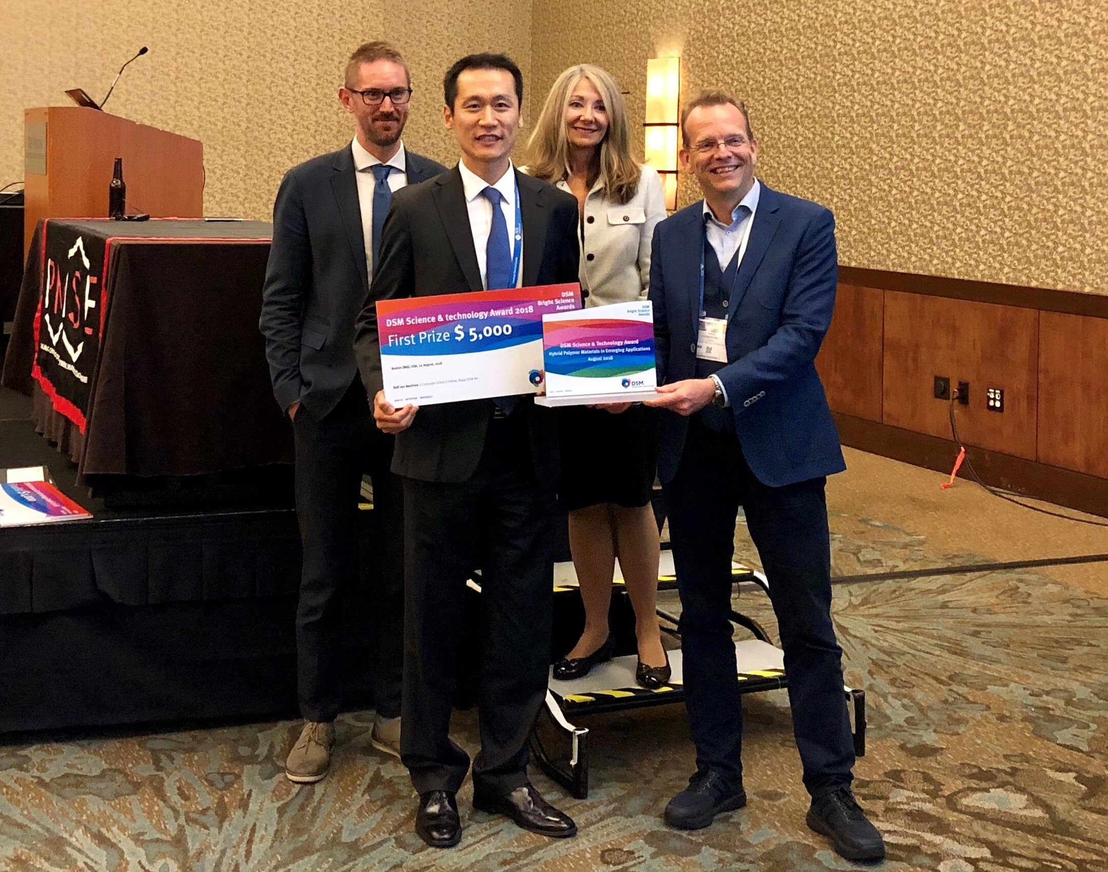 DSM Science & Technology Award – POLY, ACS - Won the DSM award, given to one individual annually for the best lecture. (link)Boston, MA, August 2018