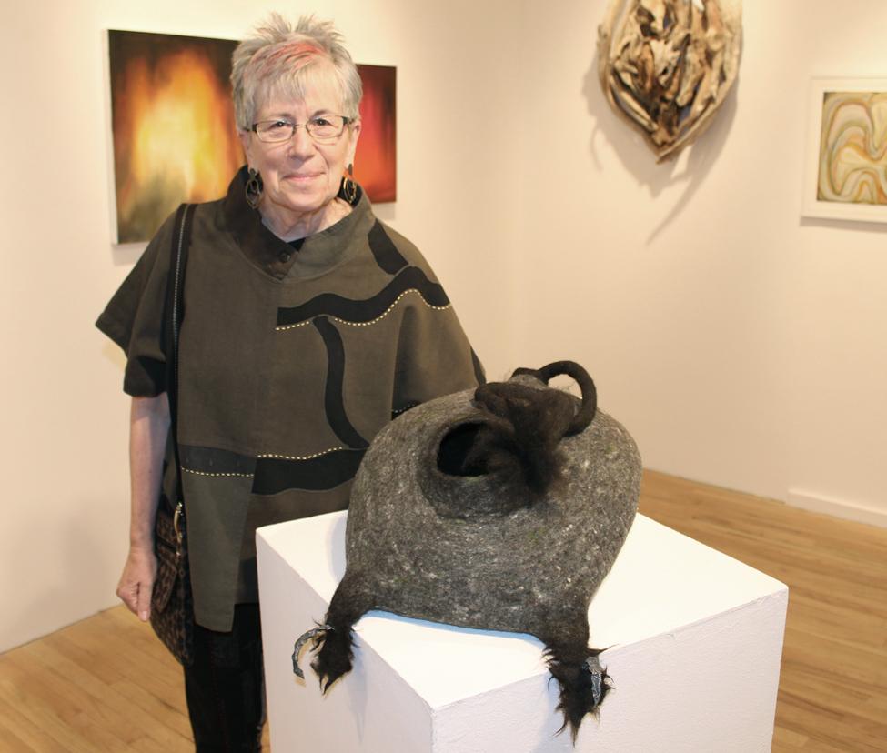 photo of felt sculpture:Creature