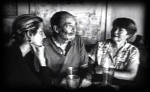 Marsha Slomovitz,Charles Modecke,Mary Kerr, in Vesuvio, while shooting  The Beach