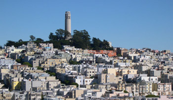 Telegraph Hill from the rooftop of the San Francisco Art Institute (below)