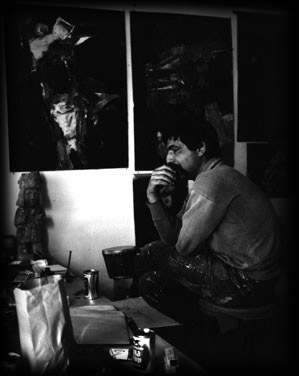 John Altoon in his studio