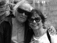 David Meltzer and Aya (Tarlow) 2007   After joint reading at Beyond Baroque, Venice, CA