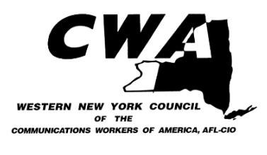 Thank you to the WNY Communication Workers of America Union for their Support