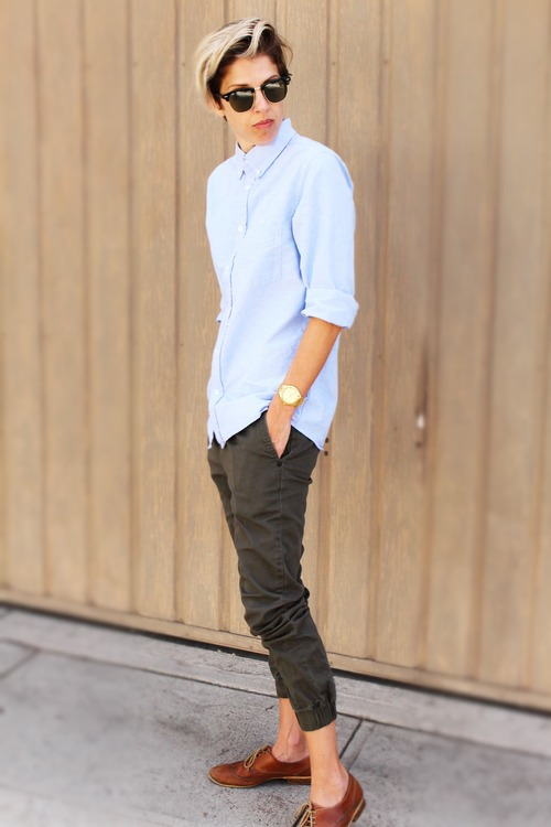 Dress your joggers up for work with some oxfords.