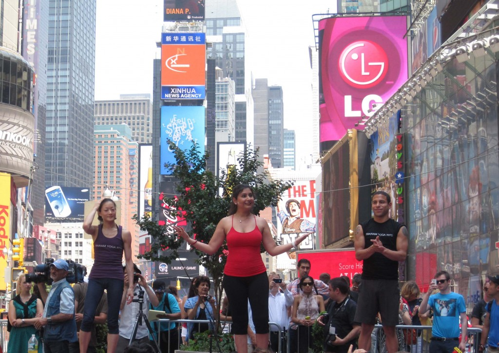 Times Square, New York City largest yoga class