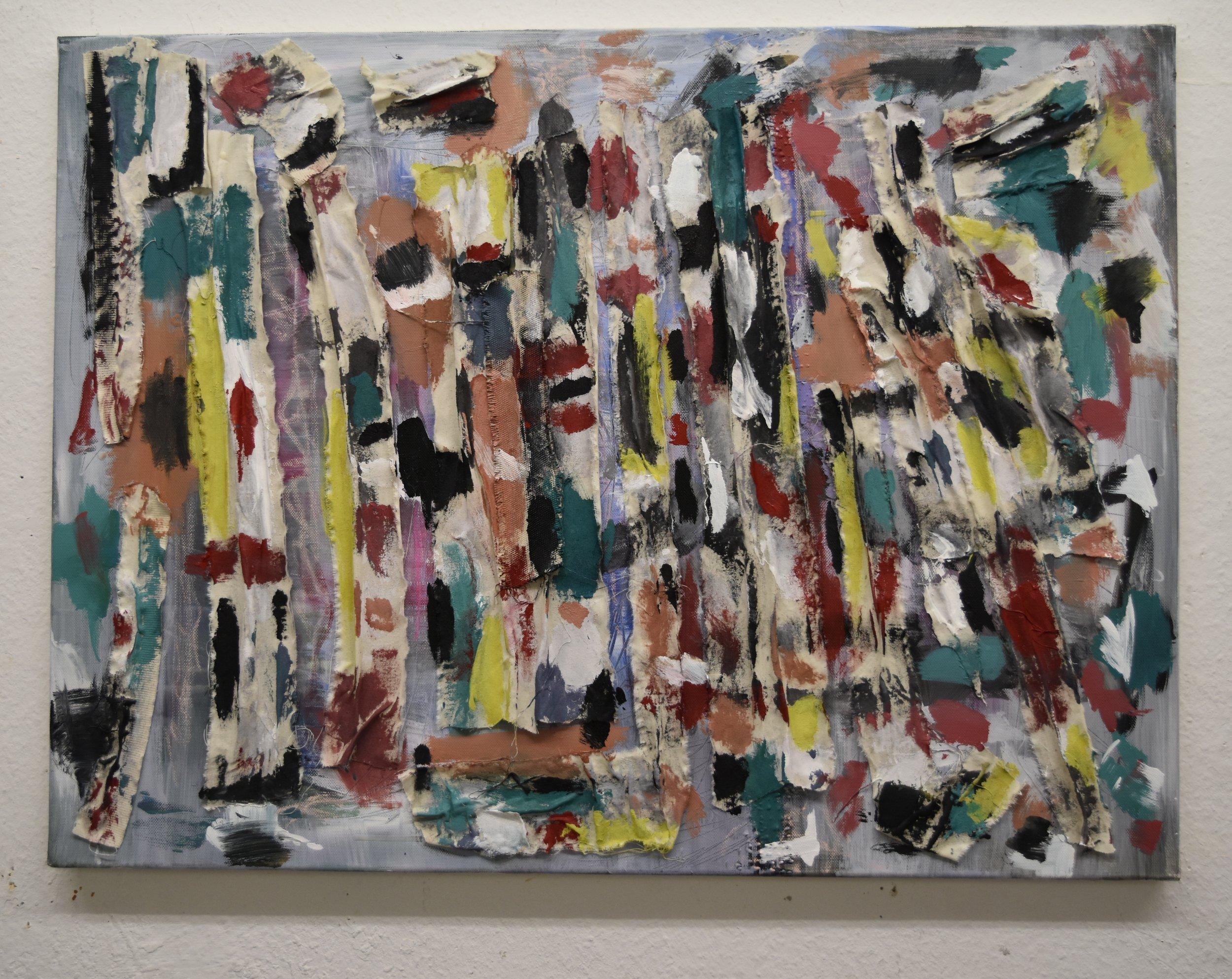 Acrylic Pastel on Canvas  80x60cm 31.5x23.7in