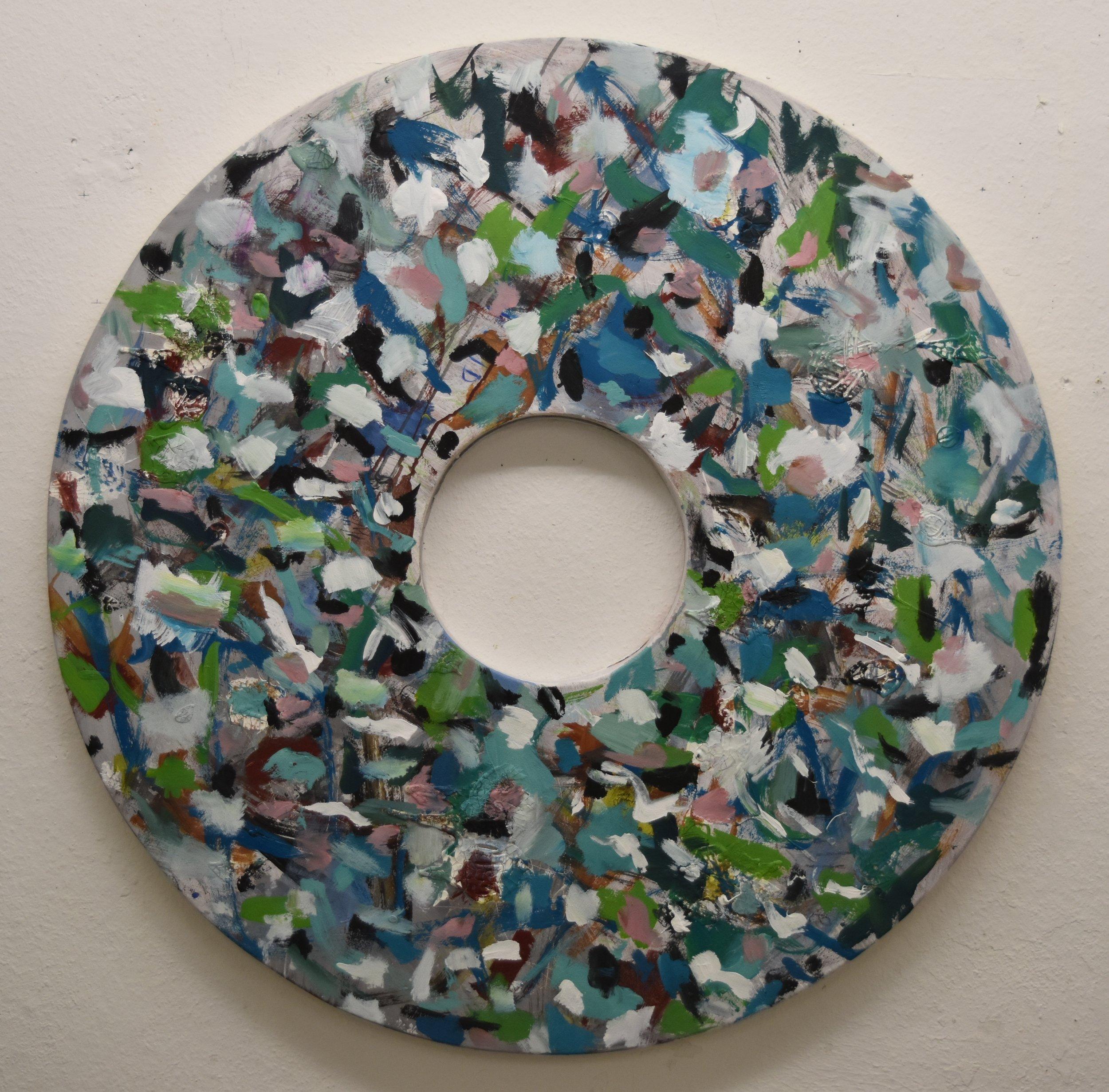 Acrylic on Canvas  110cm diameter 43in d