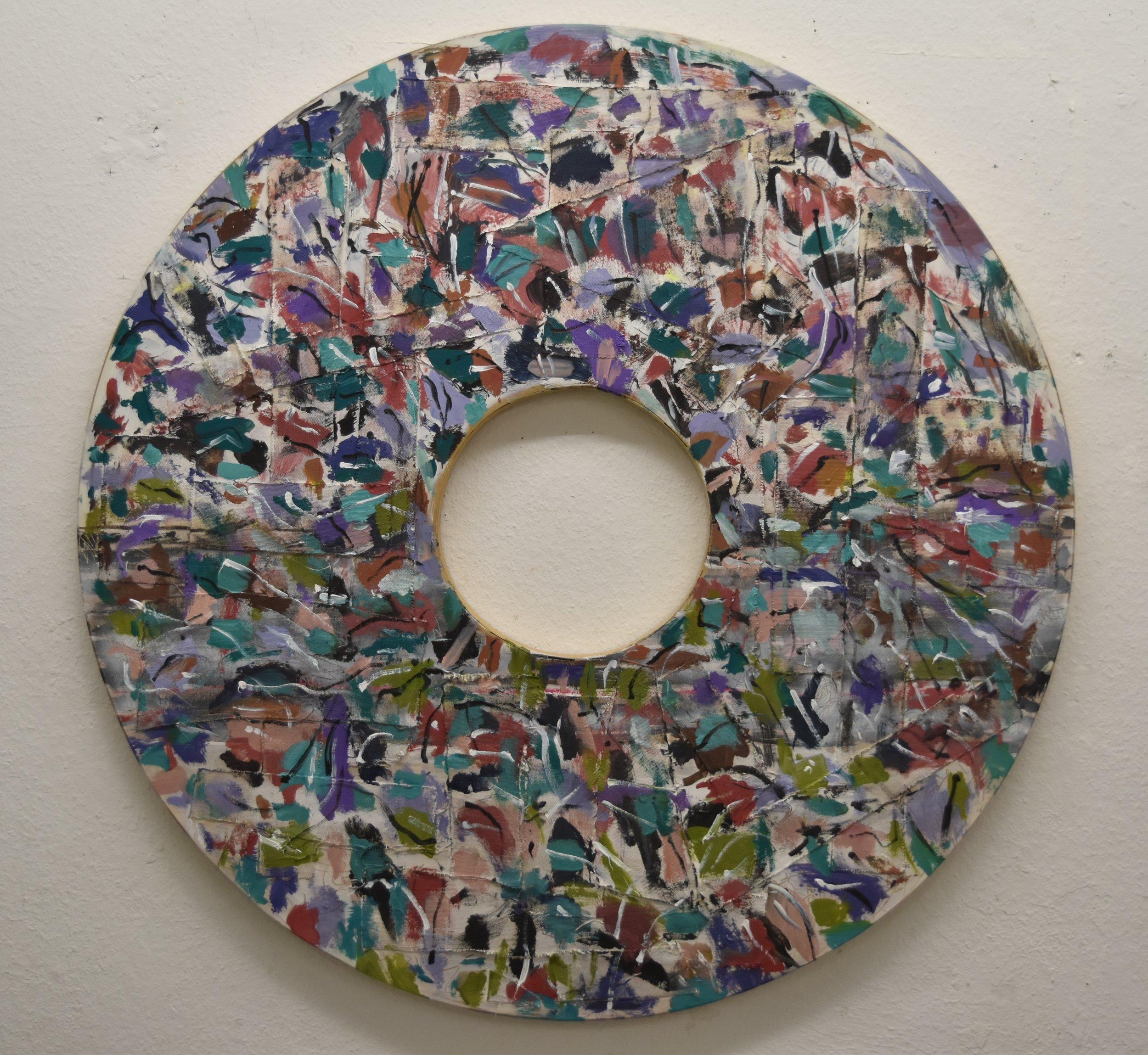 Acrylic on wood  110cm diameter 43in d