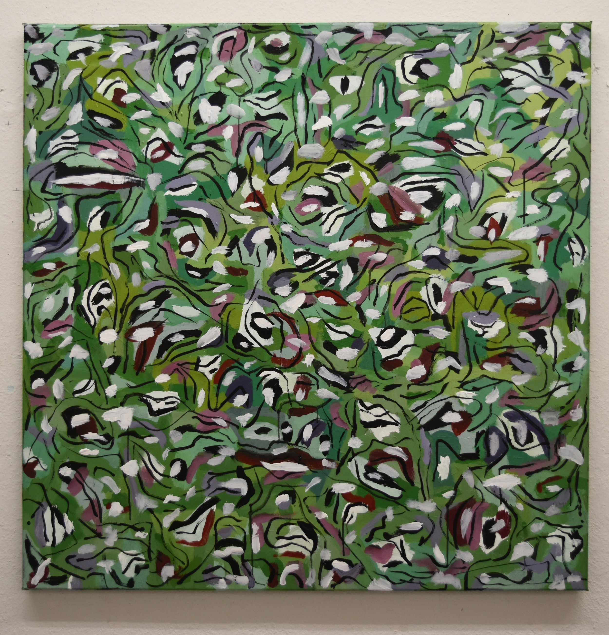 Acrylic on canvas  100x100cm 39.3x39.3in