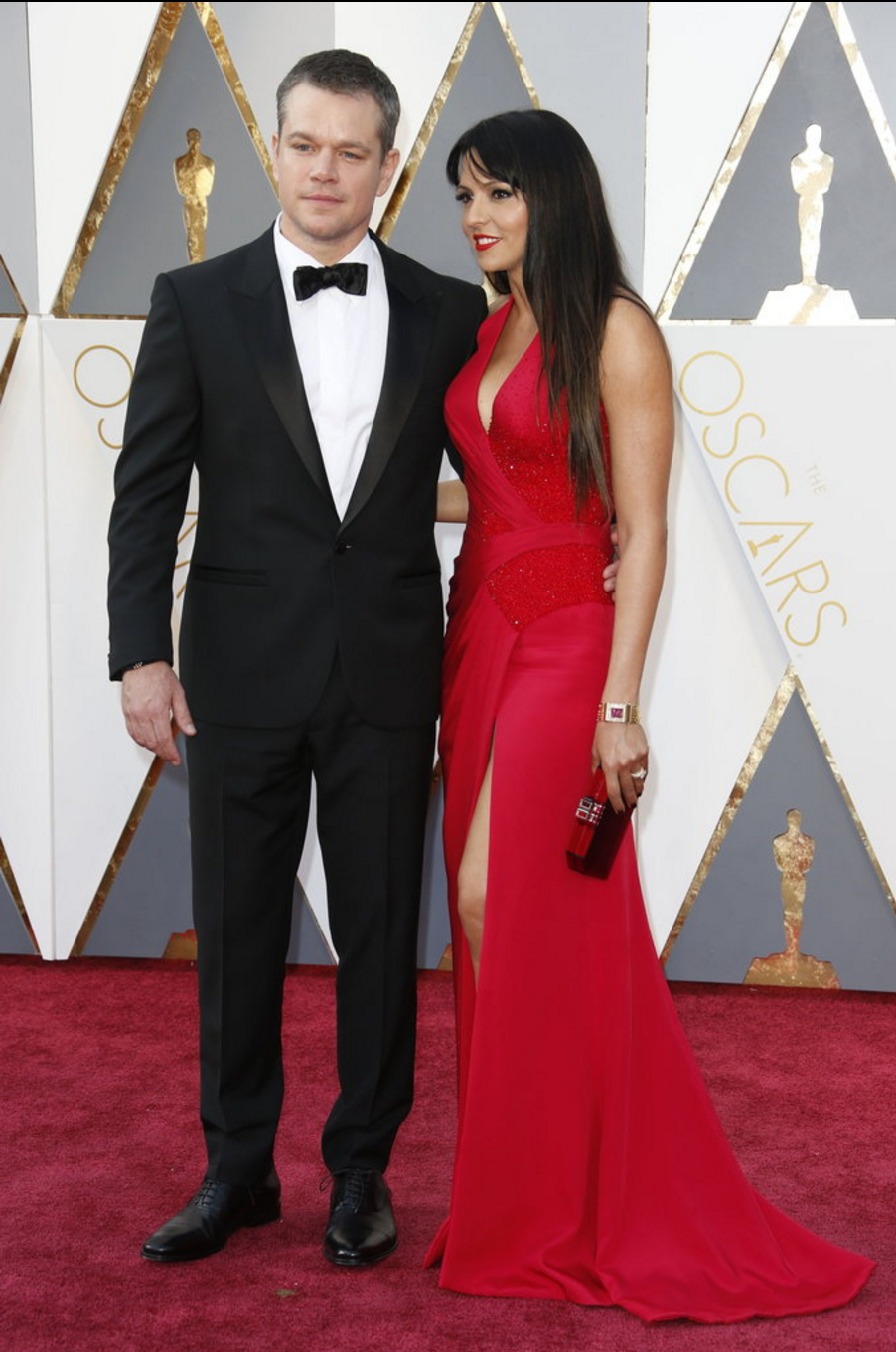 Matt Damon in Versace and Luciana Barroso