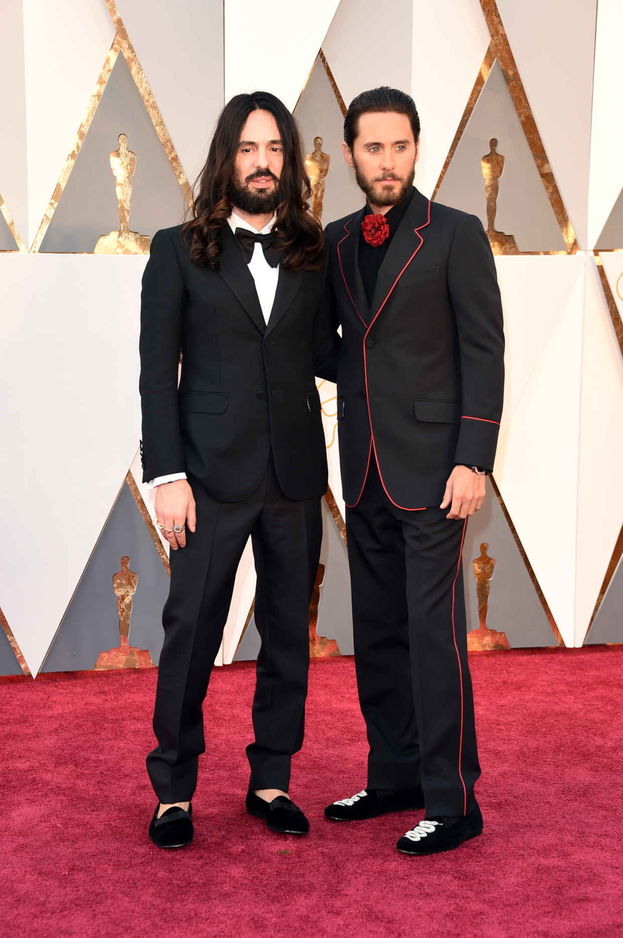 Jared Leto and Alessandro Michele of Gucci