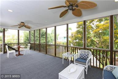 Huge screened porch is an outside room!
