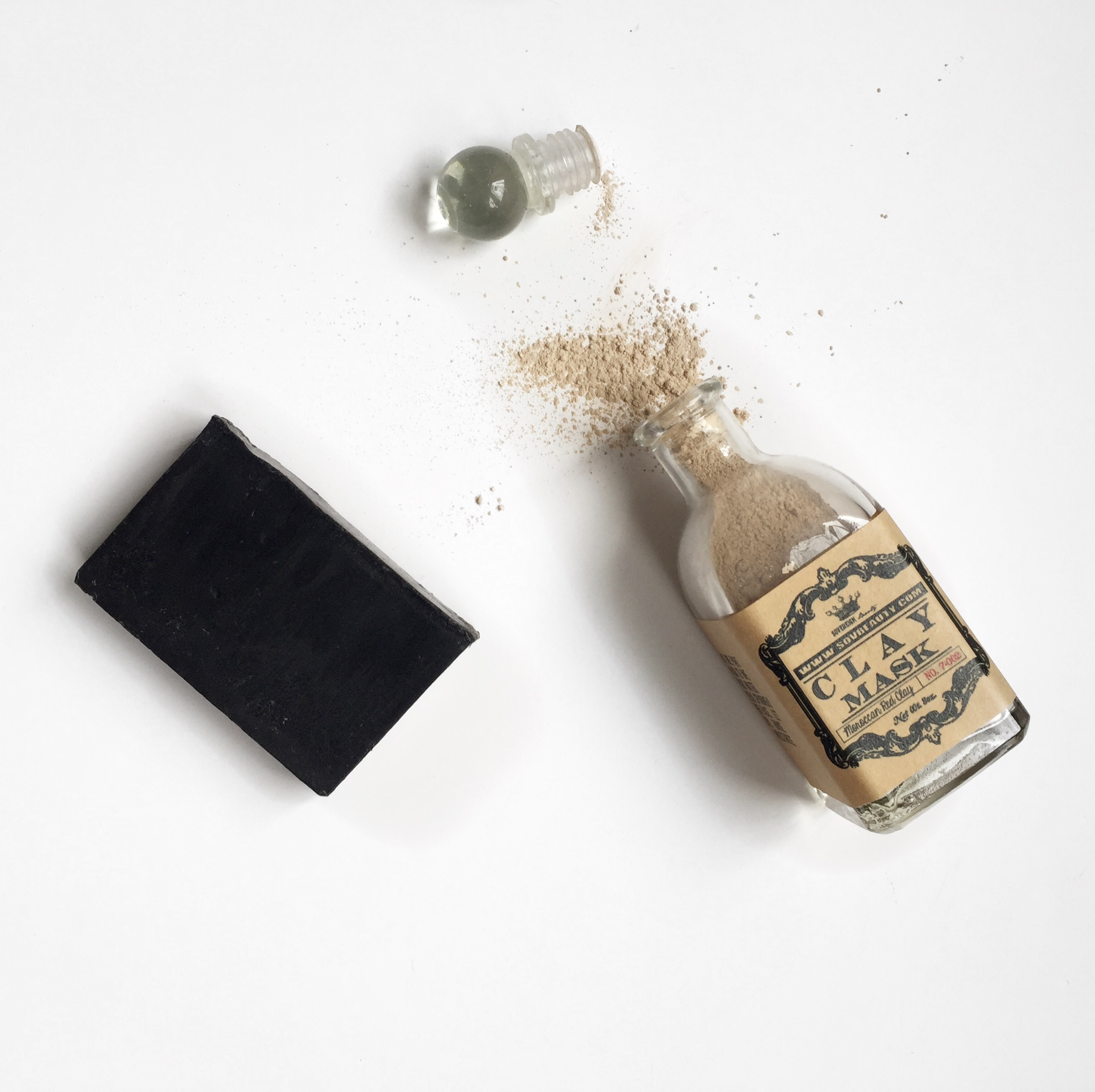 Charcoal Soap & Clay Mask available online at  thetoppingtree.com  or in-store!