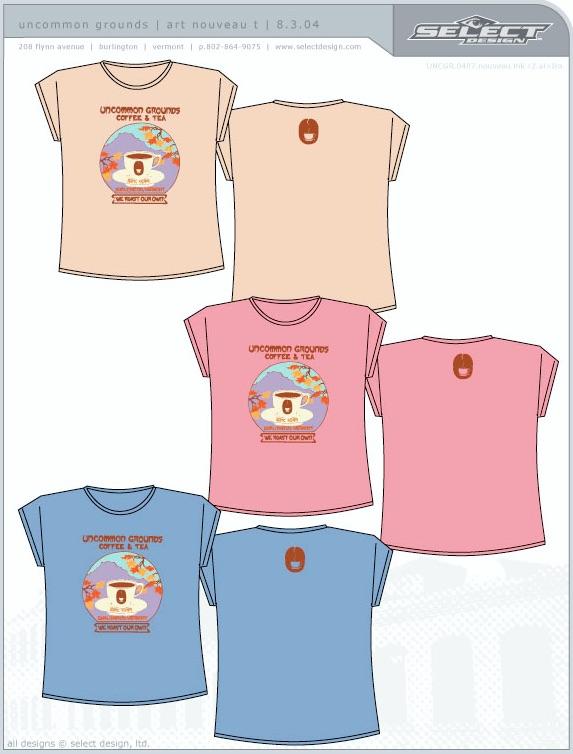 T-shirt mockups - click to enlarge.