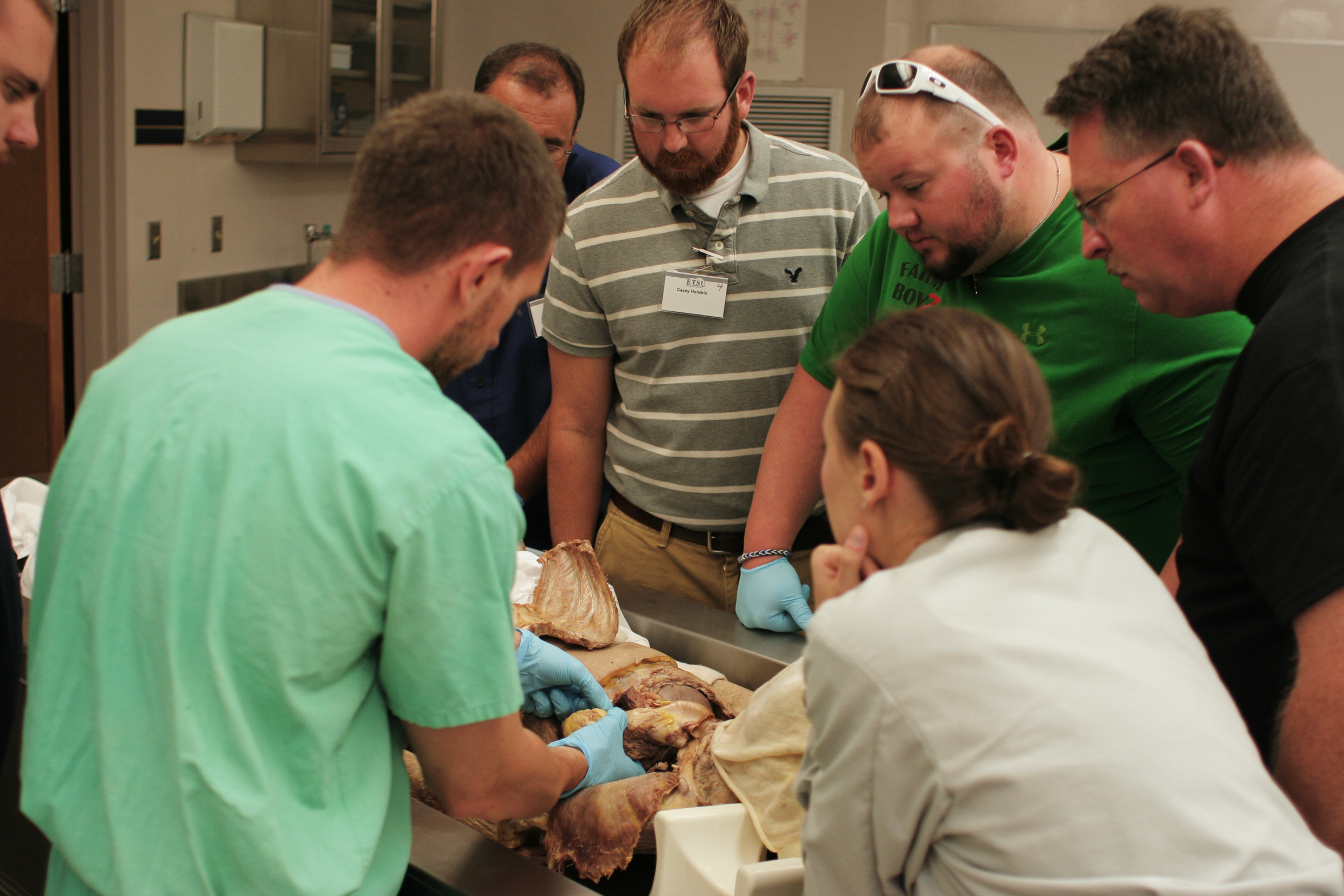 Attendees have the opportunity to learn relevant anatomy in Quillen's gross anatomy lab.