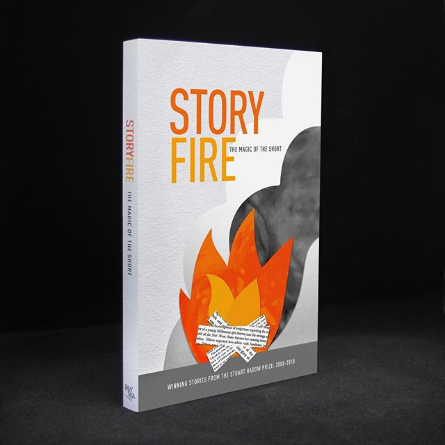 Book cover illustration and design for the Fellowship of Australian Writers (WA). The Storyfire anthology is a collection of winning short stories from the Stuart Hadow Prize: 2005-2018. Presented by West Australia's oldest creative writing body, the Fellowship of Australian Writers W.A. Available now from @fawriterswa  #insomniadesign #bookcover #illustration #publicationdesign #design #storyfire