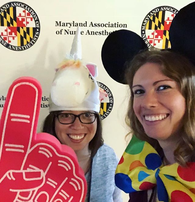 Alice and Becca at the MANA 2018 Fall Meeting having some dress-up fun!  #MeetingPlanners #EventDesign #WorkPerks #CreateYourHappy #BehindTheScenes #EventPlanners #WorkFamily #Happy #AMClife #Clemonsandassociatesinc #AssociationManagment #workhardplayhard #motivationalmonday #Motivation
