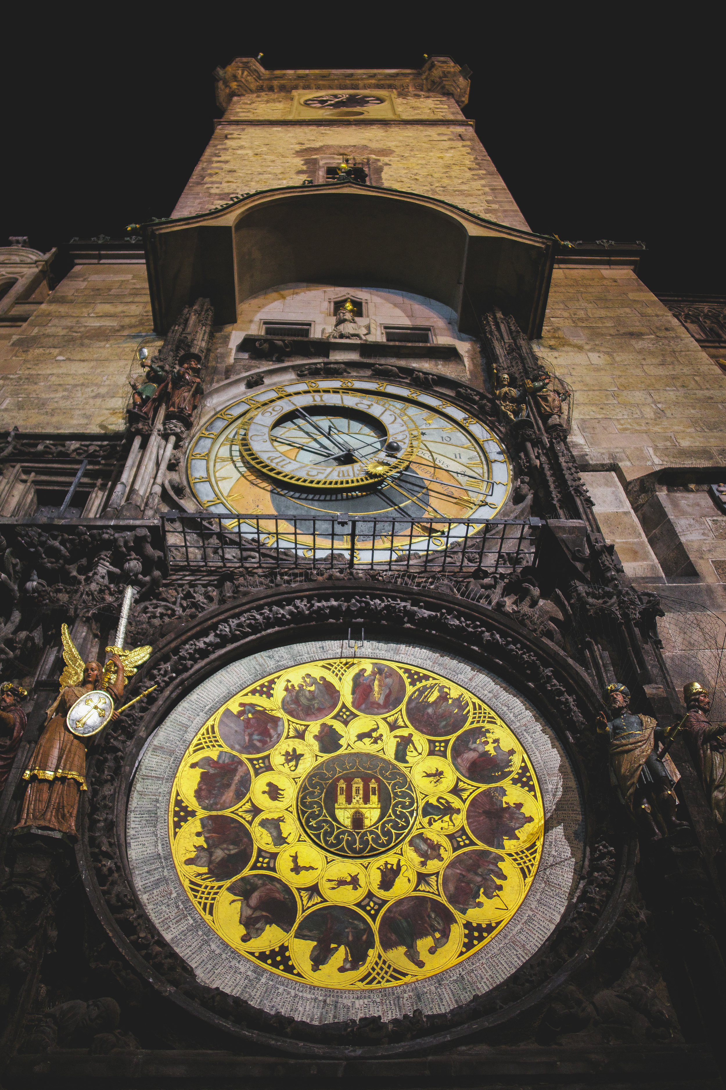 The Prague Astronomical Clock which was first installed in 1410. http://www.czechtourism.com/c/prague-astronomical-clock/