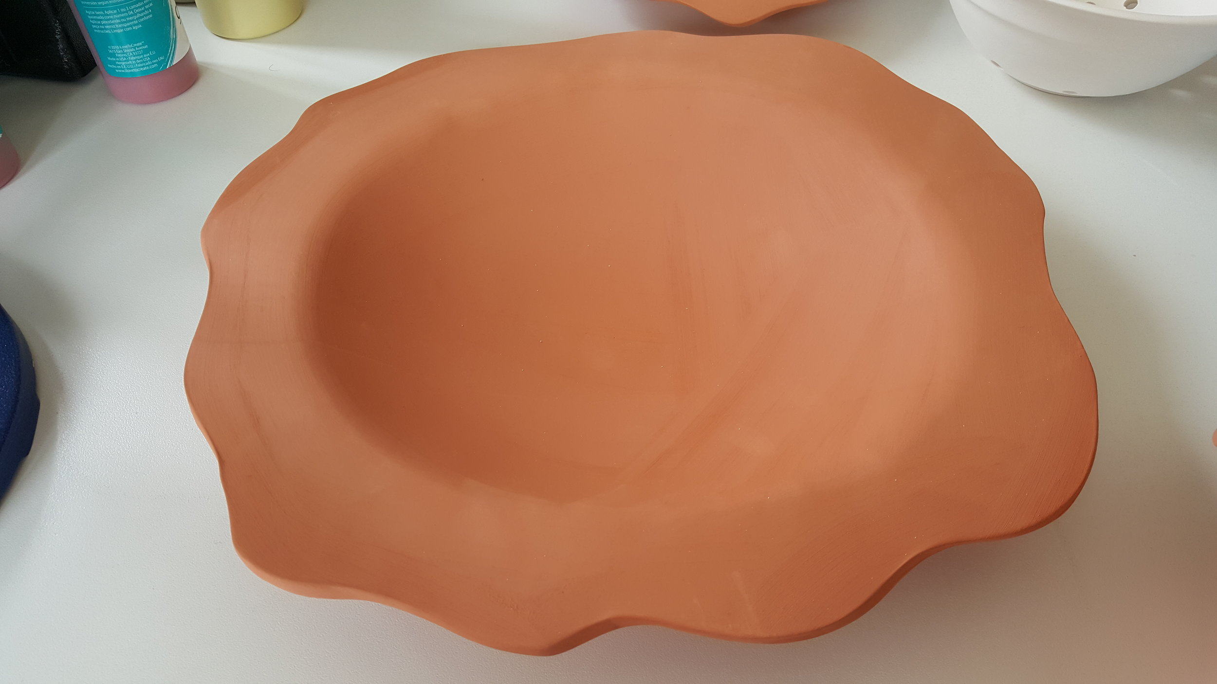 The bisque fired piece ready for glazing.