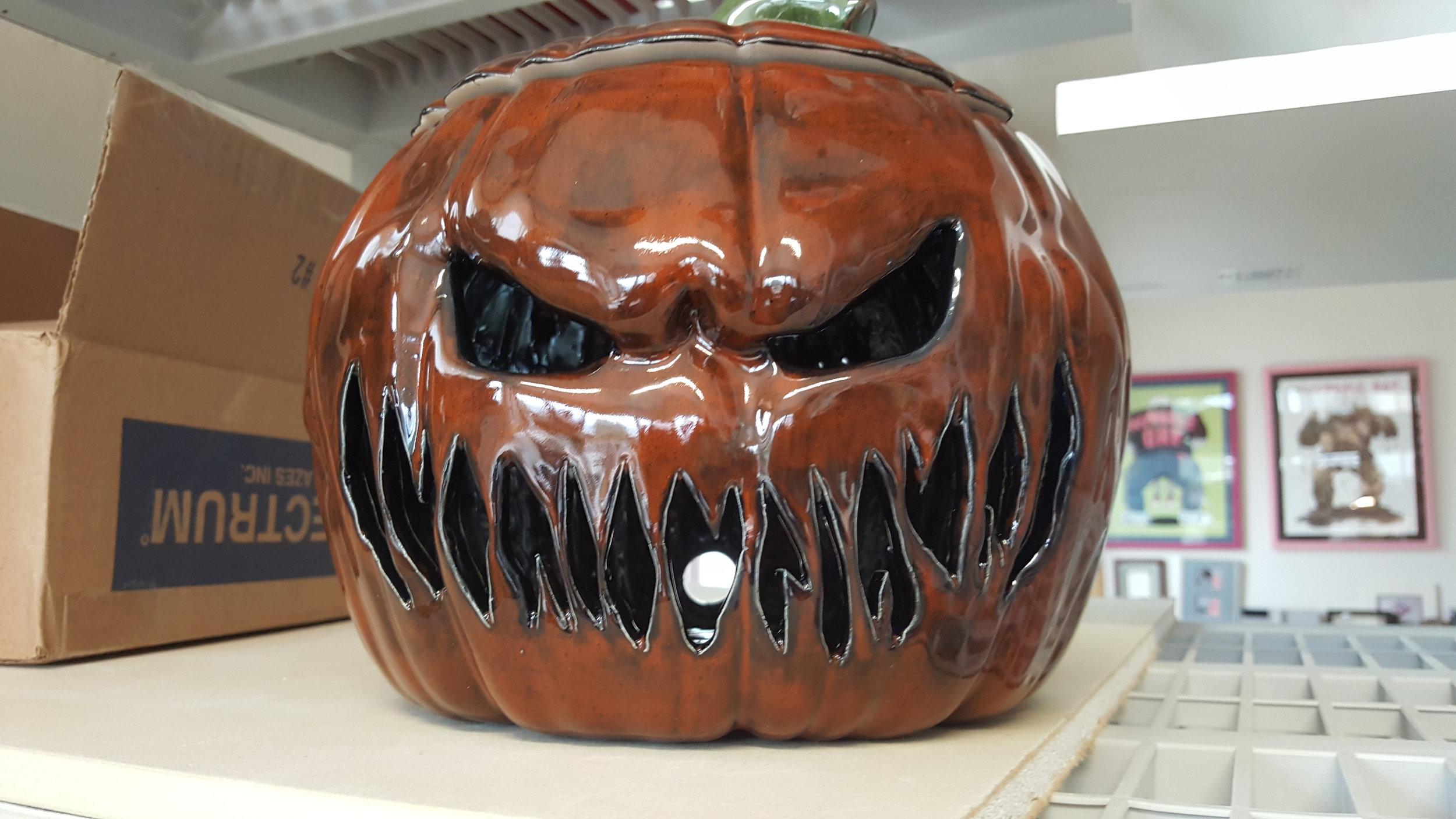 A completed pumpkin.