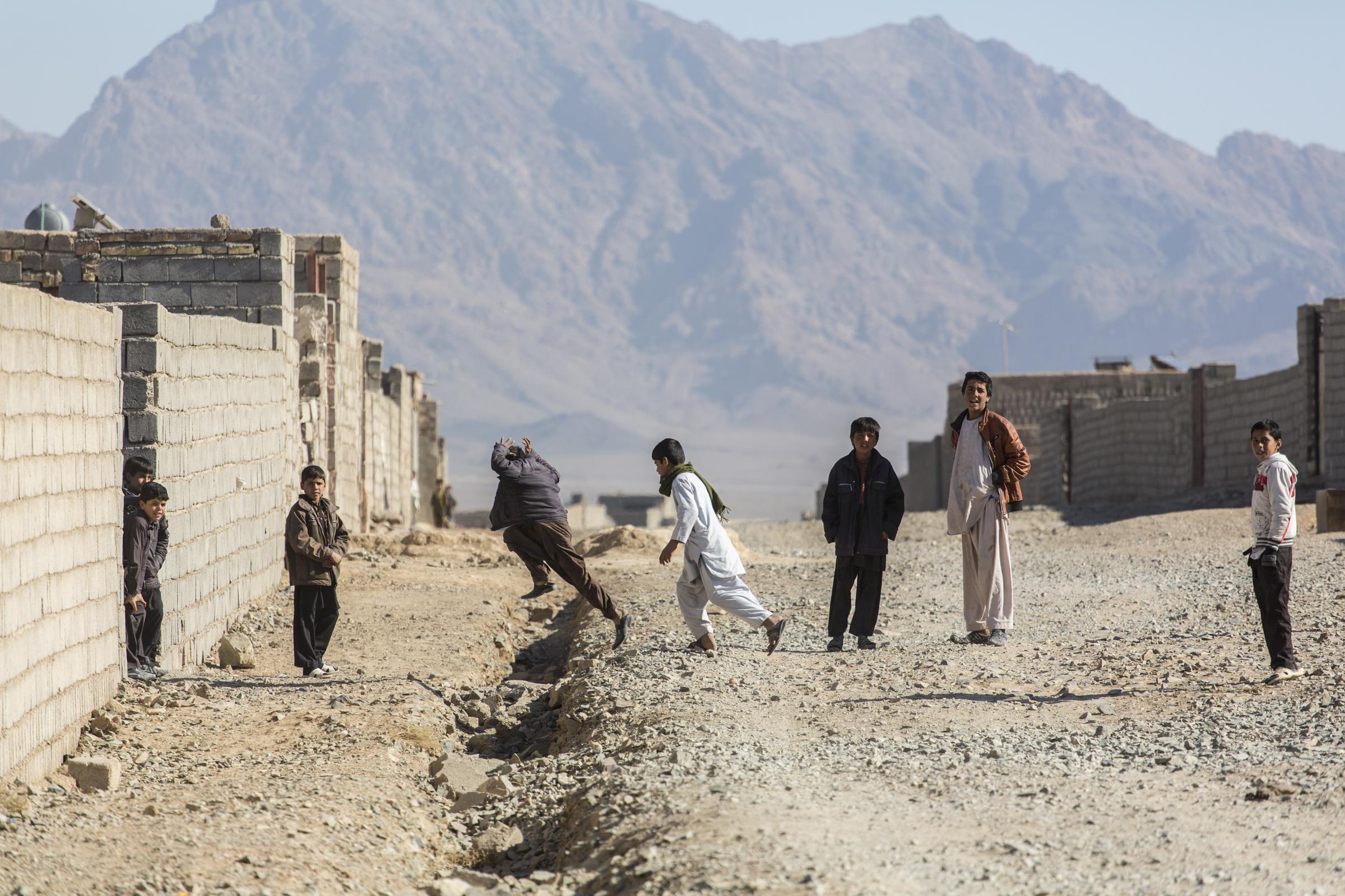 Farahi boys playing (Farah, Afghanistan).