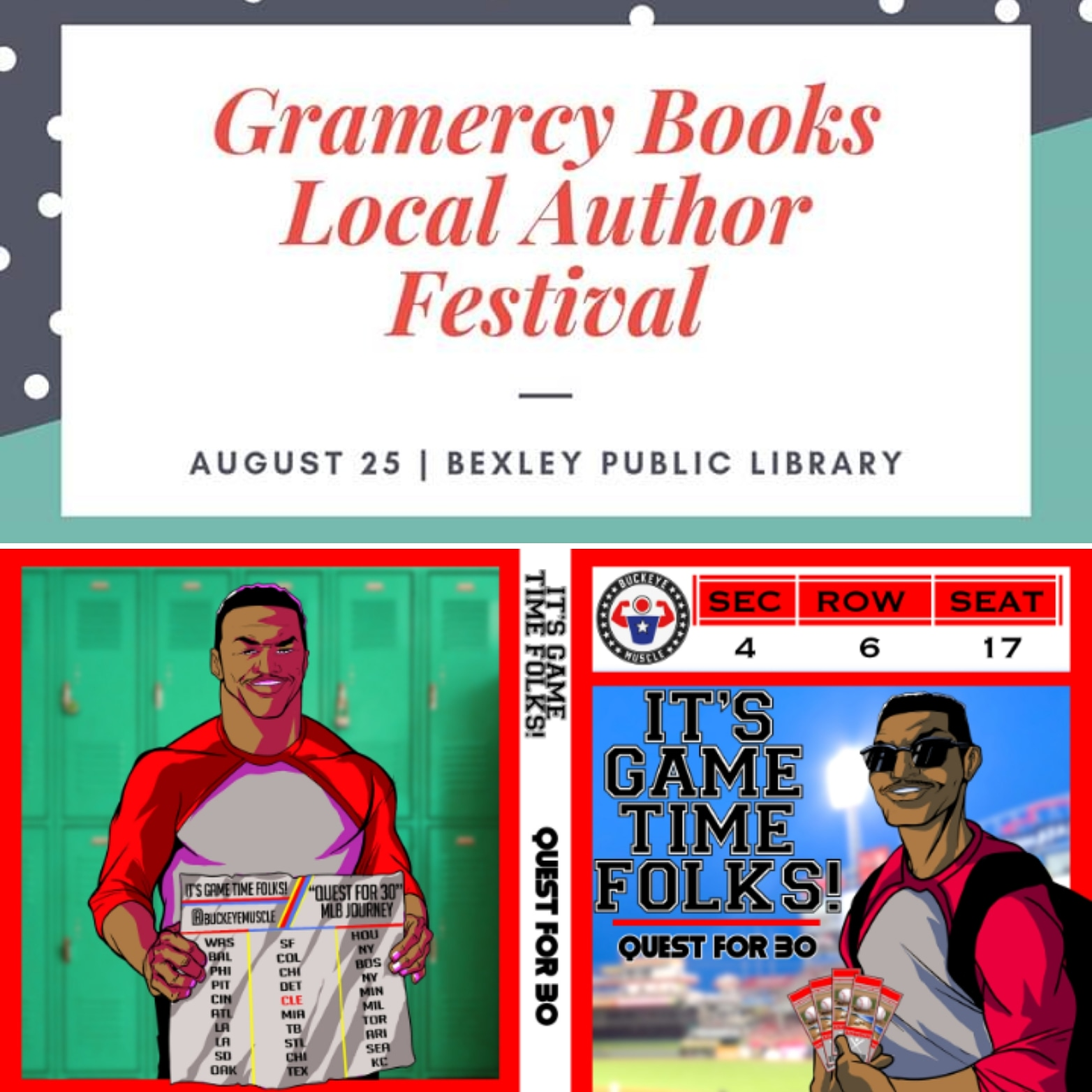 Meet me on August 25th at Bexley Public Library