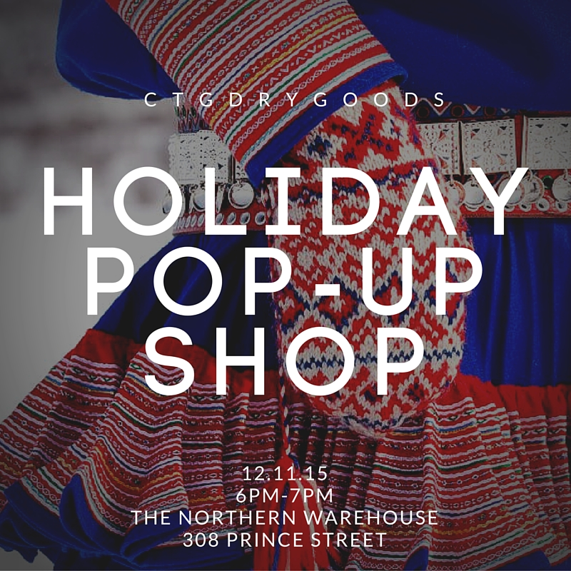 Pop-up shop from 6pm-7pm! Open to the public.