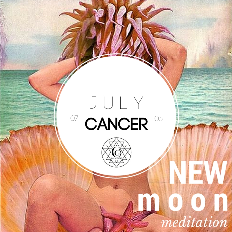 This month's new moon is in Cancer. Cancer is protective, nurturing, maternal, creative, imaginative, sensitive. Join us July 5th!       G     et tickets!