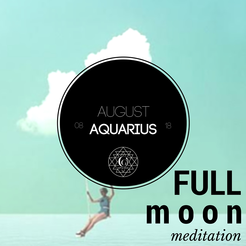 This month's Full Moon Meditation will be under Aquarian influence. Aquarius is known for being witty, clever, humanitarian, inventive and original. Join us!  Get tickets here!