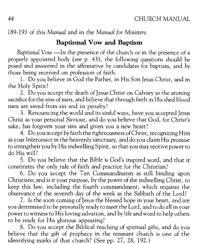 1986 Church Manual, pg. 44