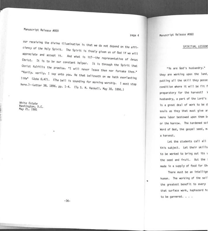 Hard-copy of Volume 11, Manuscript Release from 1990