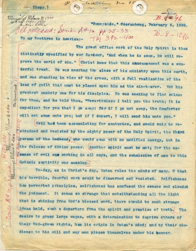 third person of the Godhead-Exhibit-1.-Letter-8-1896-p.1