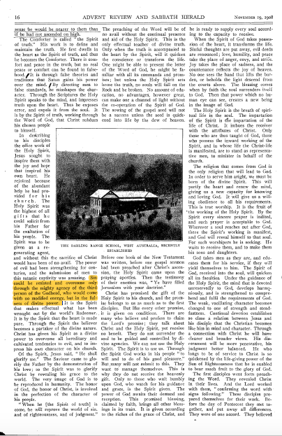 ADVENT REVIEW AND SABBATH HERALD NOVEMBER 19, 1908, pg. 16