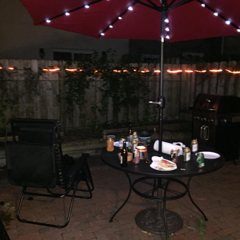 patio umbrella lights