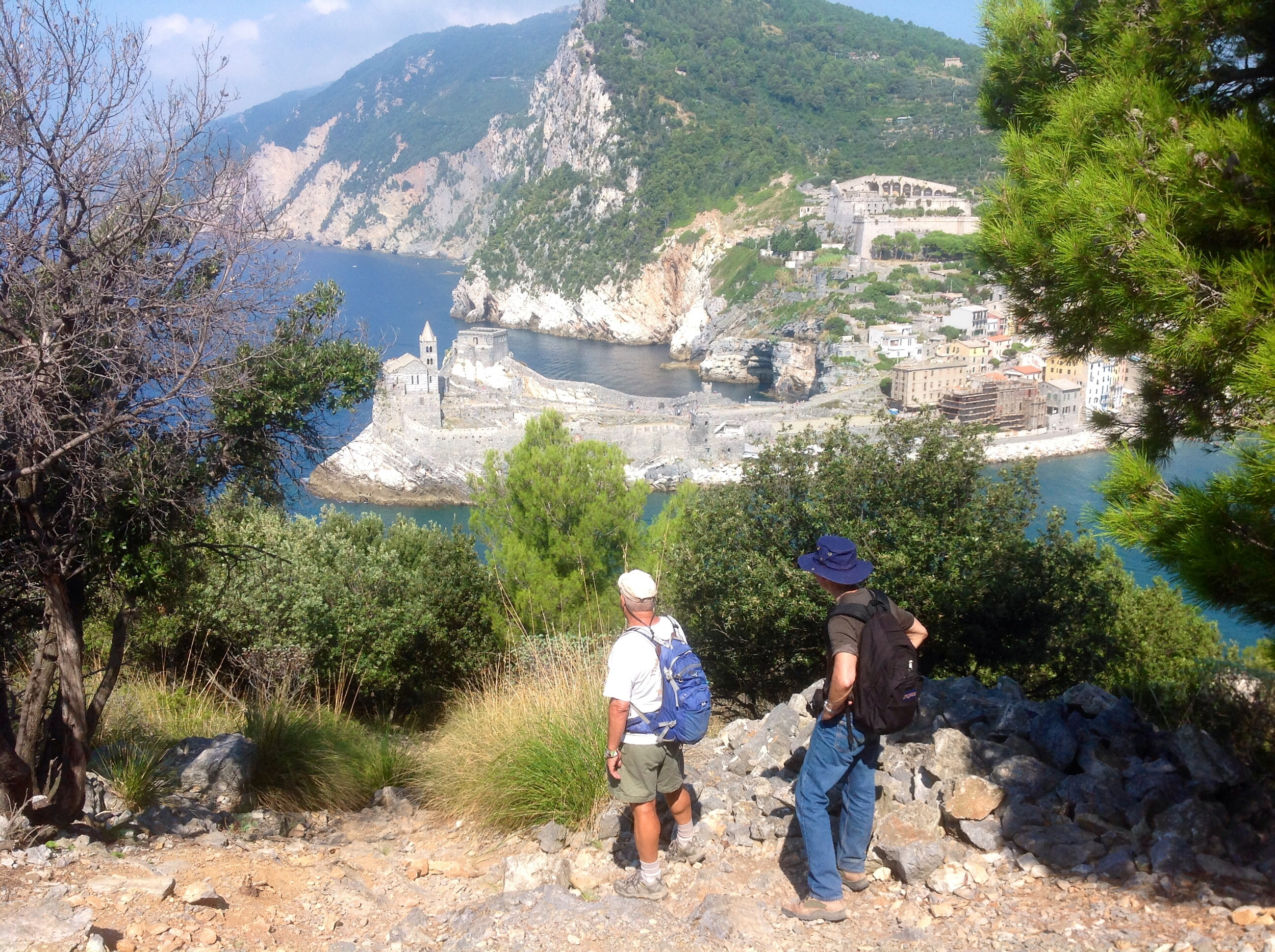 View to Portovenere and Doria Castle