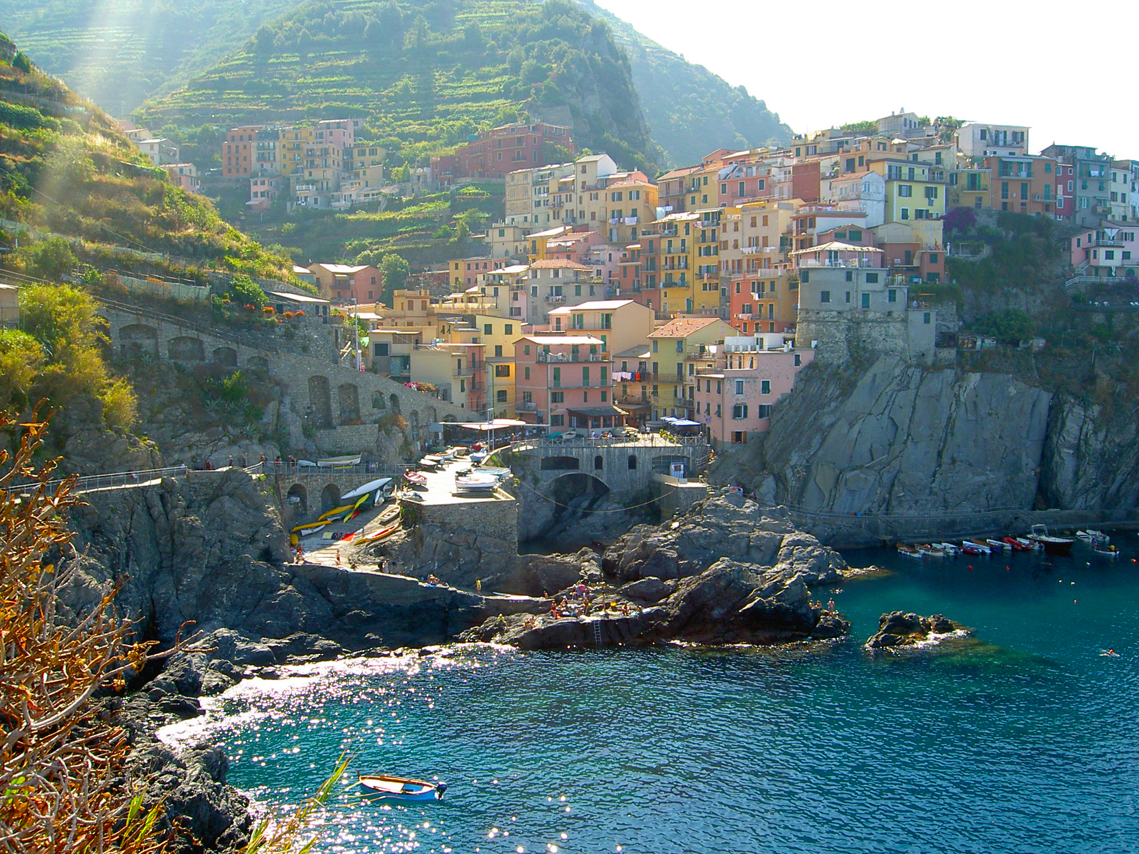 Manarola is one of the most photographed village of Cinque Terre. Best time to visit is in the evening