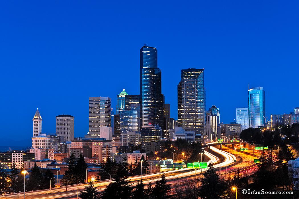 Seattle Skyline By Dawn